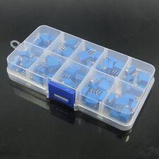 100x 3296W potentiometer 1M/2M/50ohm/100ohm/500ohm/1K/10K/20K/100K/500K Box Kit
