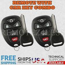 2 New Replacement Keyless Remote Car Fob for 15913415 + Circle Plus Keys n Clips