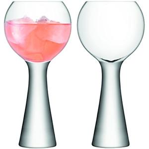 LSA International MV22 Moya Wine Balloon 550ml Crystal Clear x 2 Tasting Air