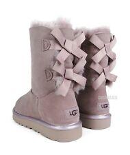 UGG Bailey Bow II Metallic Dusk Suede Fur Boots Womens Size 8 ~NIB*