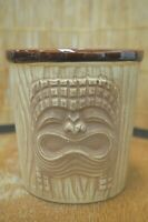 Vintage Latitude 20 Torrance California 3 Face Brown Bucket Tiki Mug