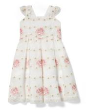 NWT Janie and Jack size 4 girl rose organza dress