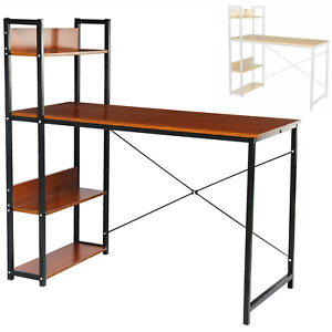 Home Office Student Writing Study Computer Table Desk Workstation with Bookshelf