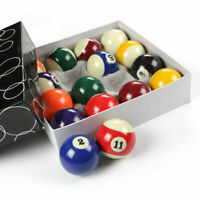 "1"" 16 Pcs Miniature Small Mini Pool Balls Set Table Billiard Resin For Chil TBO"