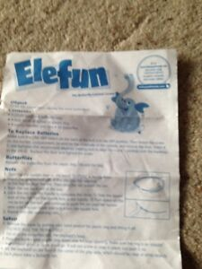 Elefun Game. Set Of Instructions. Genuine MB Games Part.