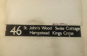 "Holloway Bus Blind 83 42"" 46 St Johns Wood Swiss Cottage Hampstead Kings Cross"