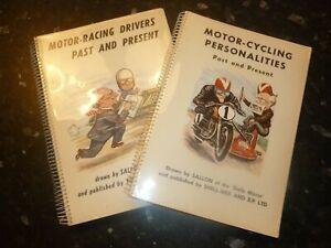 Motor Racing drivers past / present , Motor Cycling personalities/ book 1956 ,57