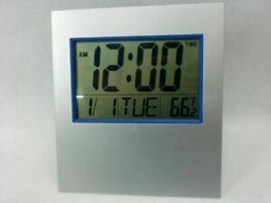 Large Digital Wall Clock LCD Desk Alarm Temperature Office School Hall Kitchen