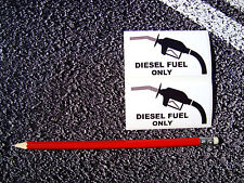 Diesel Fuel Only Warning Stickers Decals Cars Taxi Citroen Fiat Vauxhall TDI