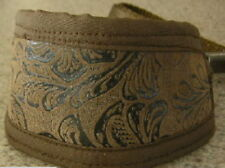 BROWN FAUX LEATHER PAISLEY COLLAR LEAD ITALIAN GREYHOUND  MINIATURE PINSCHER