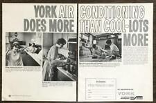 1966 Two-Page PRINT AD Borg Warner York Air Conditioning