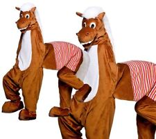 Panto Horse Adult Costume Fancy Dress Plush Animal Mascot Pantomime Outfit