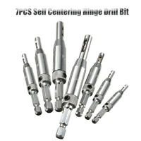 HSS 7PCS  Per Foro Autocentrante Hardware Serratura Cardine Punte Trapano Set