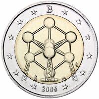 Belgien 2 Euro Münze Atomium in Brüssel 2006 Gedenkmünze Stempelglanz