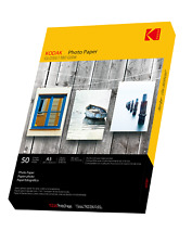 More details for kodak premium quality glossy photo paper - 50 sheets a3 180gsm [inkjet printers]