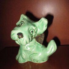 VINTAGE SYLVAC 1950'S GREEN TERRIER DOG   #1119  ENGLAND