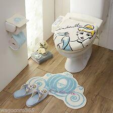 Disney Princess Cinderella Toilet Seat, Paper Cover Set with Matt, Slipper