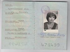 HELGA VLAHOVIĆ - BRNOBIĆ Croatian journalist, producer, IDENTITY CARD 1984,RRR !
