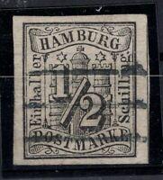 T4233/ GERMANY – HAMBURG – MI # 1 USED SIGNED JAKUBEK BPP – CV 860 $