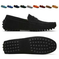 Men Casual Driving Loafers Suede Leather moccasin-gommino Slip On Penny Shoes