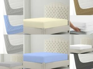 Available in All Color Sizes Cool 1 Pcs Fitted Sheet 800 TC Pure Cotton Easy Fit