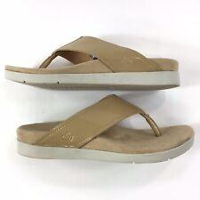 Spenco Hampton Thong Sandals Womens 7 Tan Neutral Flip Flop Comfort Soft Walking