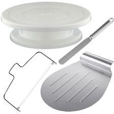 4tlg Tortenplatte Drehbar Kuchenretter Streichpalette Tortenboden Schneider SET