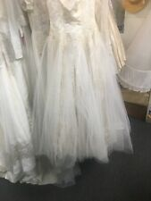 50's Vtg Tulle And Lace Wedding Dress