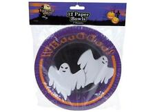 Halloween Party Tableware - Pack of 12 Paper Bowls featuring Ghost Design