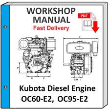KUBOTA OC60-E2 OC95-E2 DIESEL ENGINE SERVICE REPAIR WORKSHOP MANUAL