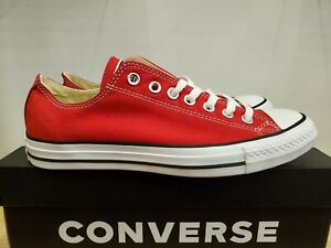 Converse Classic Chuck Taylor All Star Low Top Red Lifestyle Shoes for Women