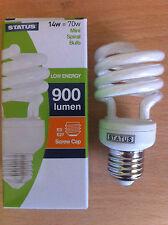 14w 70w watt ES E27 Screw In Energy Saving Spiral CFL Bulb Lamp Warm White x 10