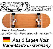 EDEL Board SET CHERRY/SI/SWZ - SOUTHBOARDS® Handmade Wood Fingerboard Deck, Holz