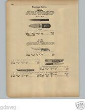 1951 PAPER AD Western Kinfolks Sheath Hunting Knife Knives