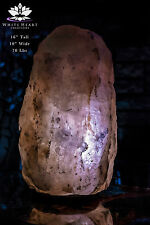 "16""x10"" JUMBO Sized Salt Lamp EXACT LAMP With 9 Color LED Bulbs, Cord & Clip #1"