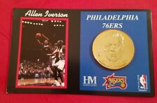 ALLEN IVERSON HIGHLAND MINT COIN # 49 OF ONLY 500 MADE GOLD COLORED 2001 NBA