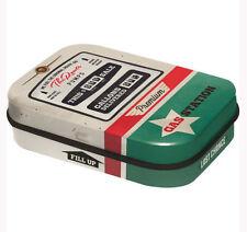 Retro Tin Metal Pill Box 'ROUTE 66 - GAS STATION' Pump w Mints 6 x 4cm Americana