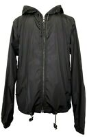 PRADA MEN'S BLACK ZIP HOODED NYLON LOGO WINDBREAKER, M, $1350