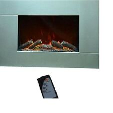 Syntrox Germany Wandkamin WK-1800W-S mit Fernbedienung Elektrokamin Silber