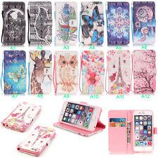 Housse Etui Flip Coque Cover Portefeuille Simili Cuir Wallet Pour Apple Samsung