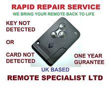 Renault Megane Remote Key card Repair Service Fault  Card NOT Detected prob Fix