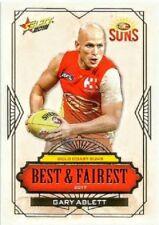 2018 AFL SELECT FOOTY GOLD COAST SUNS BEST FAIREST GARY ABLETT ALBUM CARD BF8