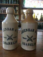 2 x Advertising Stoneware Pictorial X Dagger - Ginger Beer Bottles, circa 1905