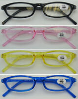 L188 Unisex Plastic Reading Glasses/Jelly Colour/Small Frame Style/Easy to Carry