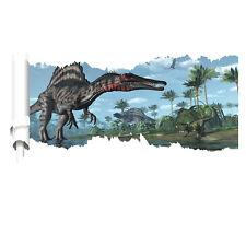 XXL 3D Aufkleber Dinosaurier Jungel T-Rex Wanddurchbruch Wandtattoo Kinder SALE