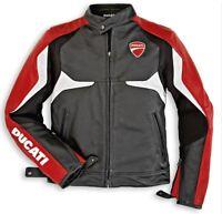 DUCATI Dainese DESMO Lederjacke Jacke Leather Jacket schwarz rot NEU %%%%