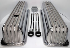 Small Block Chevy 350 Retro Vortec TBI Finned Aluminum Tall Style Valve Covers