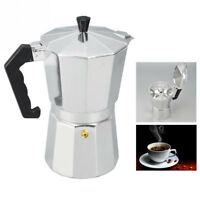 Aluminum Italian Moka Espresso Coffee Maker Percolator Stove Top Pot 2 6 9 Cups