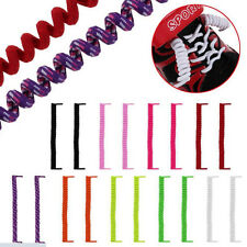 W&T Tie Curly Shoes Laces Coilers Elastics Twisty Unisex Fits Kid/Adult