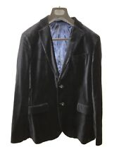 Linea Blue Velvet Suit Jacket Size M